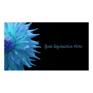 Jennie azul en tarjetas de visita negras