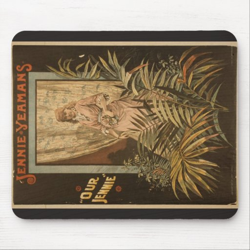 Jennie Yeaans, 'Our Jennie' Retro Theater Mouse Pad