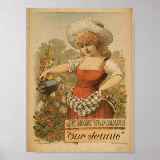 Jennie Yeaans teatro del vintage de nuestro Jenn Posters