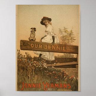 Jennie Yeaans teatro retro de nuestro Jennie Posters