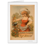 """Jennie Yeamans """"Our Jennie"""" Theatre Poster Greeting Card"""