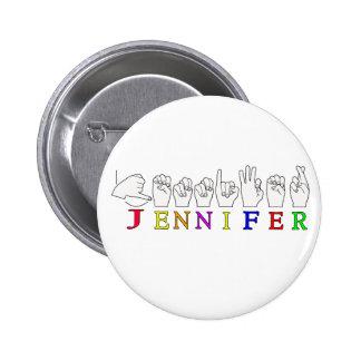 JENNIFER ASL FINGERSPELLED NAME SIGN FEMALE PINS