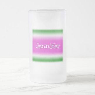 Jennifer Frosted Glass Beer Mug