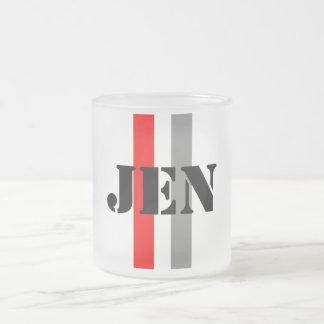 Jennifer Frosted Glass Coffee Mug