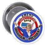 Jennifer Granholm for President 2016 Pins