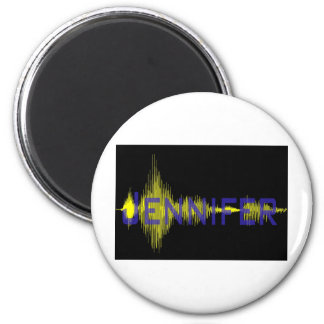 Jennifer Graphic Design for Name 2 Inch Round Magnet