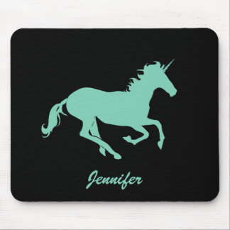 Jennifer_Green Unicorn Change Color Mouse Pad