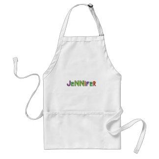 """Jennifer"" Monster Letters Adult Apron"