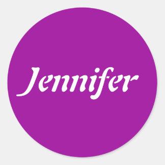 Jennifer Name Template Classic Round Sticker