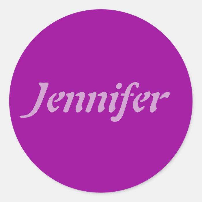 Jennifer, Name Template Classic Round Sticker