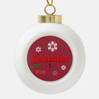 Jennifer Sunset Snow Template Ornament
