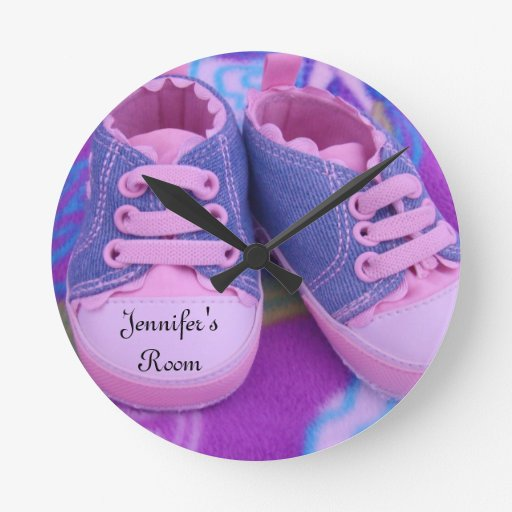 Jennifer's Room wall Clocks Pink Tennis Shoes Baby