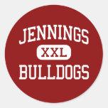 Jennings - Bulldogs - High - Jennings Louisiana Stickers