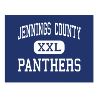 Jennings County - Panthers - High - North Vernon Postcard