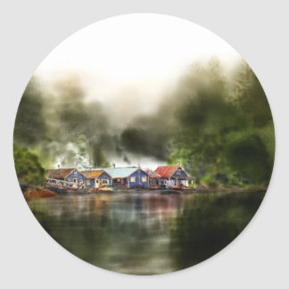 Jennis Bay Marina.jpg Classic Round Sticker