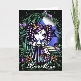 Jenny Cute Valentine Rag Doll Angel Card card
