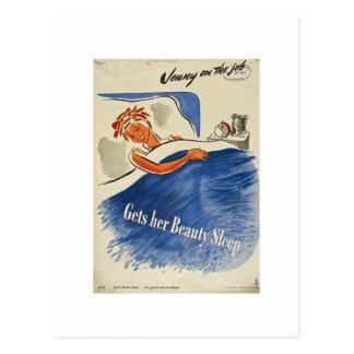 Jenny en el trabajo consigue su sueño de belleza postales