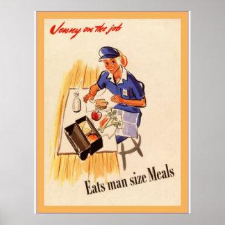 Jenny en la guerra mundial del vintage del del t posters