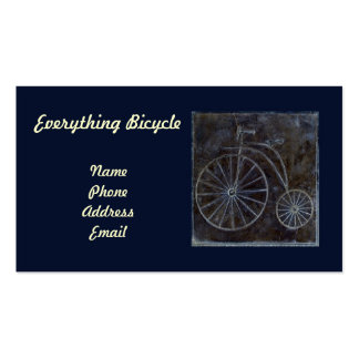 Jenny-Farthing Bicycle Wall Tile Double-Sided Standard Business Cards (Pack Of 100)