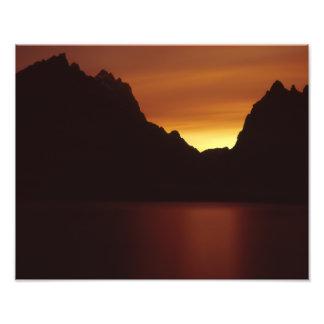 Jenny Lake at Sunet Photographic Print