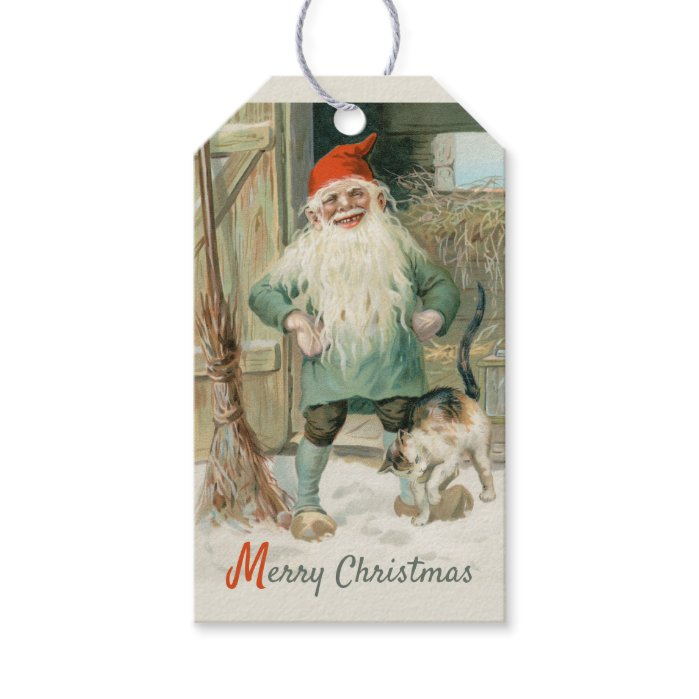 Jenny Nyström Christmas brownie and cat CC1194 Gift Tags