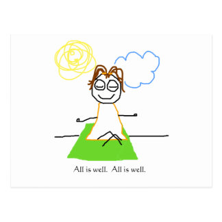 jenny quips:  all is well postcard