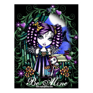 """Jenny"" Rag Doll Valentine's Day Angel Postcard"