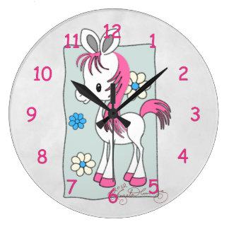 """""""Jenny"""" the Cute Pony Wall Clock"""