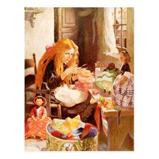 Jenny Wren, the little dolls' dressmaker Post Cards