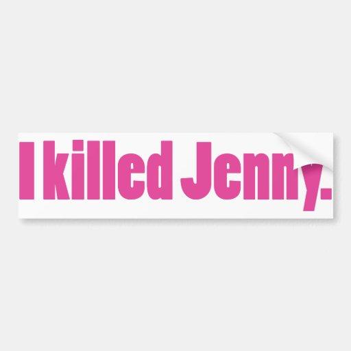JennyPink Car Bumper Sticker