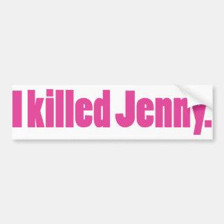 JennyPink Pegatina Para Auto