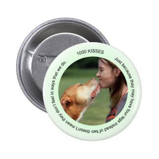 Jen's Jems 1000 kisses 2 Inch Round Button