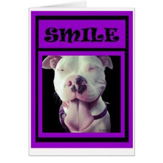 """JEN'S JEMS presents Purple """"Pigs"""" SMILE Card"""