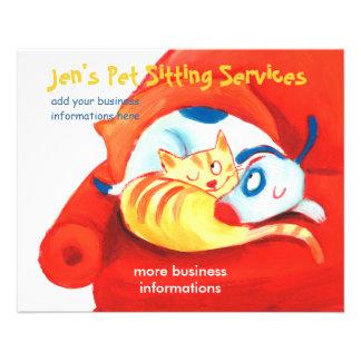 Jen's Pet Sitting Services flyer