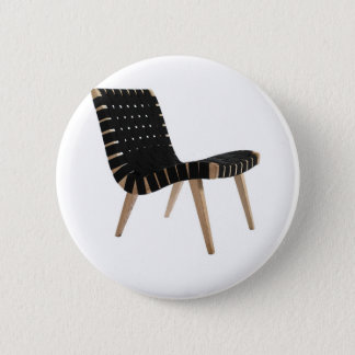 JENS RISOM by Knoll Mid-Century Modern Strap Chair Button