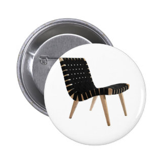 JENS RISOM by Knoll Mid-Century Modern Strap Chair 2 Inch Round Button