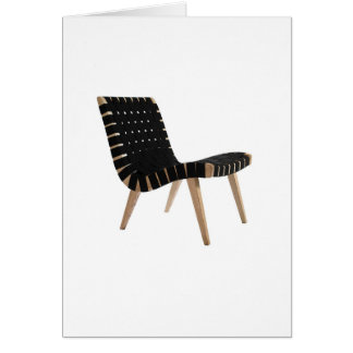 JENS RISOM by Knoll Mid-Century Modern Strap Chair Card