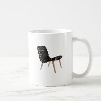 JENS RISOM por la silla moderna de la correa de Taza Básica Blanca