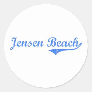 Jensen Beach Florida Classic Design Round Sticker