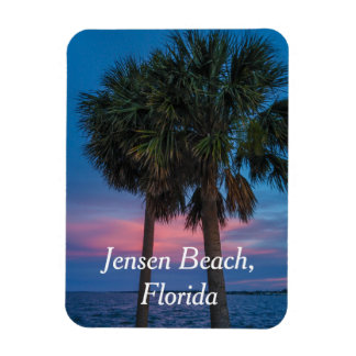 Jensen Beach Palm Tree and sunset magnet