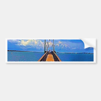 Jensen Beach Pier Bumper Sticker