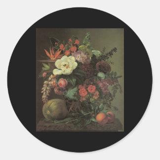 Jensen Exotic Blooms Round Stickers