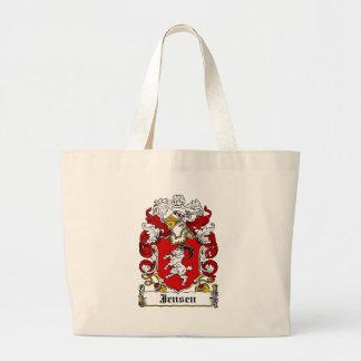 Jensen Family Crest Canvas Bags