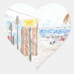 Jenson Beach Heart Stickers