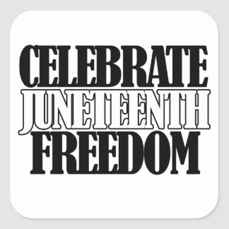 Jenteenth Freedom Square Sticker