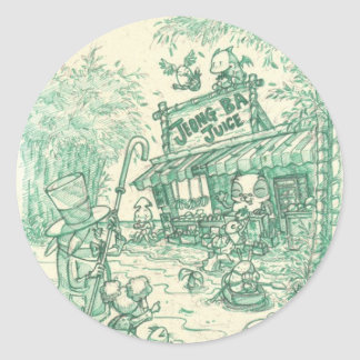 Jeong Ba Juice Classic Round Sticker