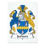 "Jephson Family Crest 5"" X 7"" Invitation Card"
