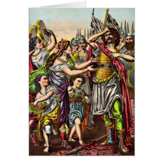 Jephthah's Rash Vow Greeting card