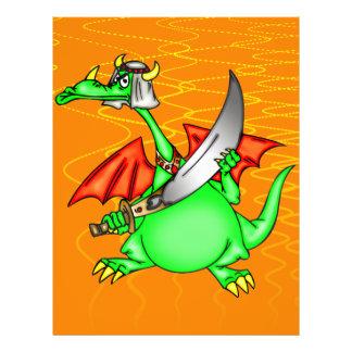 """Jeque del dragón folleto 8.5"""" x 11"""""""