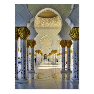 Jeque Zayed Grand Mosque Corridor Tarjetas Postales